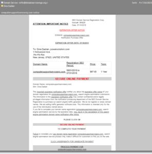 Face Domain Name Invoice