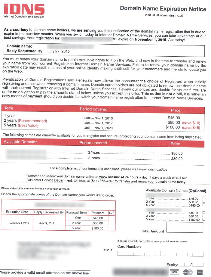 Scam Example