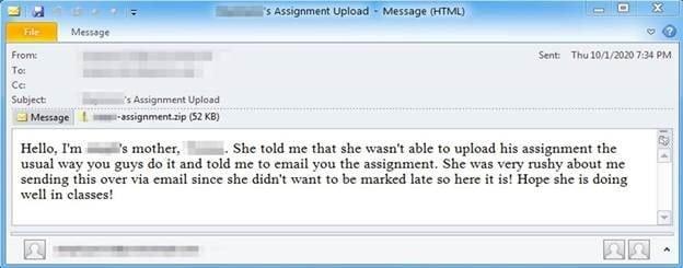 scam phishing email teachers
